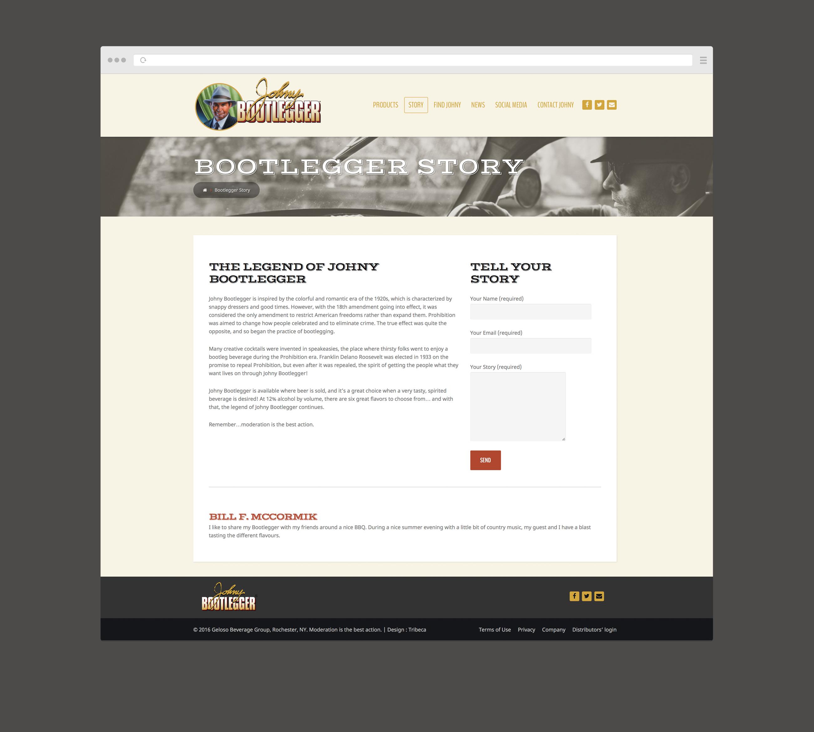 Johny Bootlegger - site web